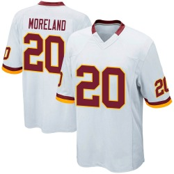 Game Jimmy Moreland Men's Washington Redskins White Jersey - Nike