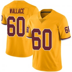 Limited Brian Wallace Men's Washington Redskins Gold Color Rush Jersey - Nike